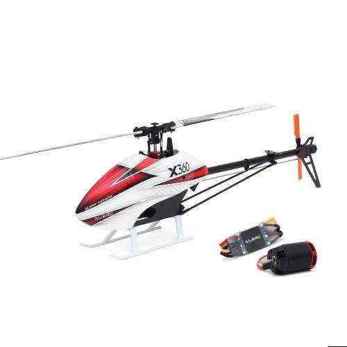 ALZRC X360 FBL 6CH 3D Flying RC Kit de helicóptero con 2525 Motor V4 50A Combo estándar sin escobillas ESC