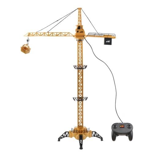 4CH Remote Control Electric Mega Tower Crane 128cm 680 Degree Rotation Construction Crane Toy