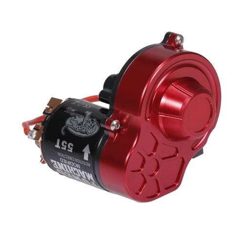 Transmission de boîte de vitesses centrale avec moteur 540 brossé 55T pour 1/10 RC Rock Crawler Axial SCX10 SCX10 II 90046
