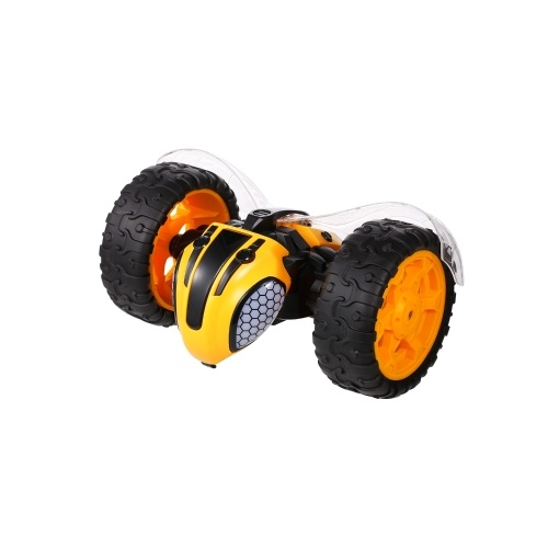 1/8 360° Rolling RC Stunt Car 2.4Ghz Rechargeable Off Road Bumper Lightning Bee Music Light