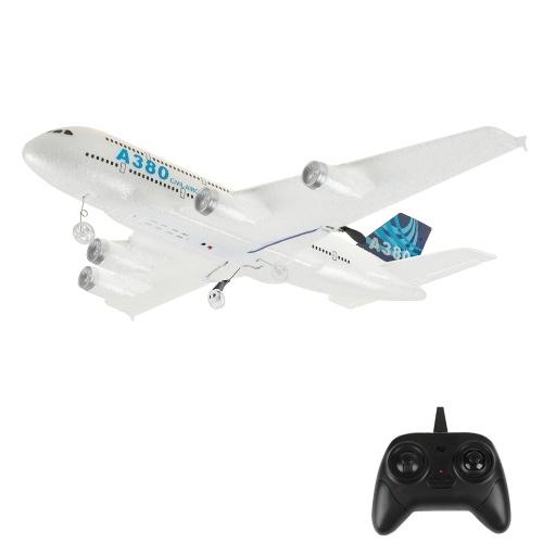 Z54 RC Airplane A380 Modello 2.4GHz 2CH RC Aereo RC Giocattoli per aeromobili per bambini Ragazzi
