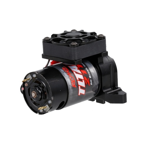 21T 550 Brushed Motor with Cooling Fan and Motor Mount Base Holder Replacement for 1/10 RC Car Traxxas Trx-4 Trx-6 RC Car