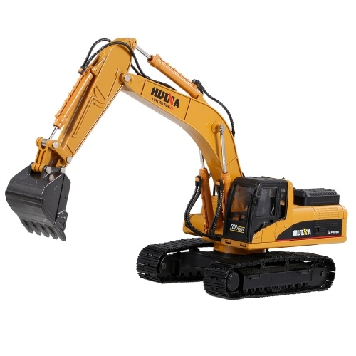 HUINA 1910-2 1/40 Large Metal Alloy Excavator Truck Car Model Toy Construction Car Engineering Car Vehicle Gift for Kids Boys
