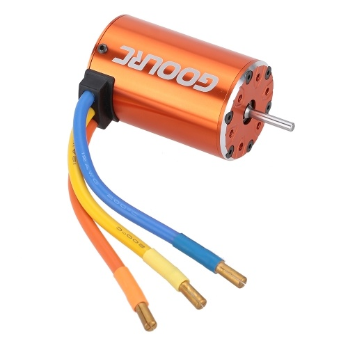 GoolRC 550 4300KV 4 Poles Sensorless Brushless Motor for 1/10 4WD Short Course Trucks