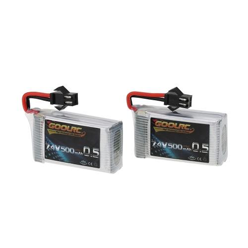 2ST GoolRC 7.4V 500mAh 25 C Lipo Akku für JJRC H8C H8D DFD F183 F182 RC Drohne