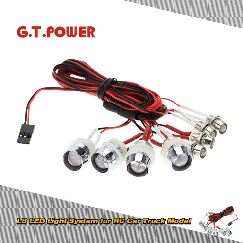 G.T.POWER L8 LED Light System for RC Car Truck Model