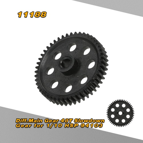 11188 48T Differential Main Gear for 1/10 HSP 94103 4WD On-Road Touring Car