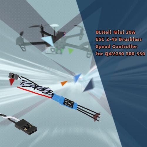 Regolatore di velocità Brushless ESC 2-4S di 4pcs BLHeli Mini 20A per QAV250 300 330 Racer Quadcopter