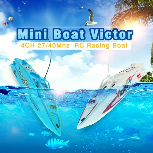 Create Toys CT3392B 27MHz/40MHz Radio Controlled RC Boats Racing Ship Combo Package