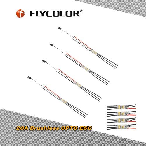 4pcs Original Flycolor RAPTOR 20A Brushless OPTO ESC Support Oneshot125 for QAV250 330 Racing Drone