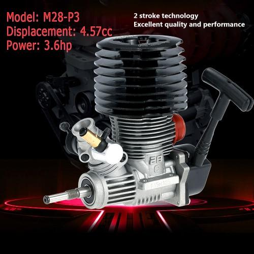 元 SH M28 P3 4.57cc 2 ストローク プル開始 1/8 ニトロ エンジン モンスター トラギー RC カー