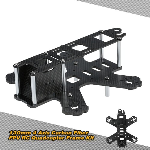 130mm 4 Axis Carbon Fiber FPV RC Quadcopter Frame Kit