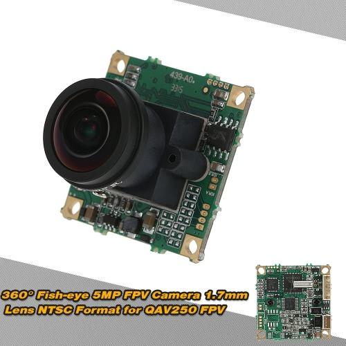 360° Fish-eye 5MP FPV Camera 1.7mm Lens NTSC Format for QAV250 FPV Aerial Photography