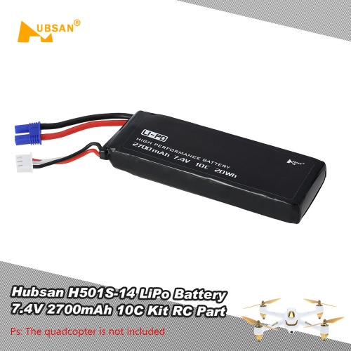 Originale Hubsan H501S-14 LiPo Battery 7.4V 2700mAh 10C Kit RC parte per Hubsan H501S RC Quadcopter