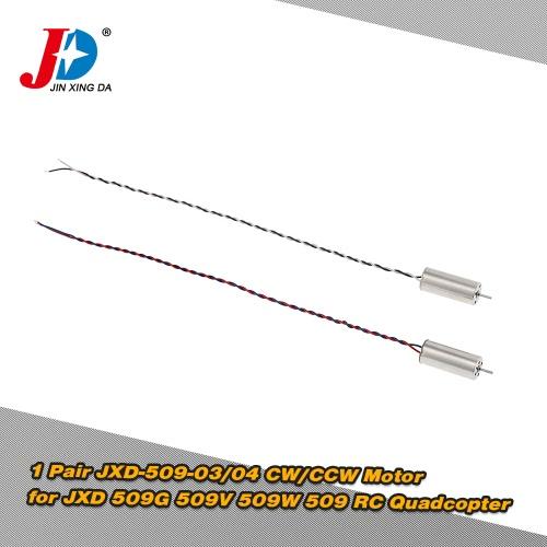 1 Para Original JXD JXD-509-03 / 04 CW / CCW silnika dla JXD 509G 509V 509W 509 RC Quadcopter