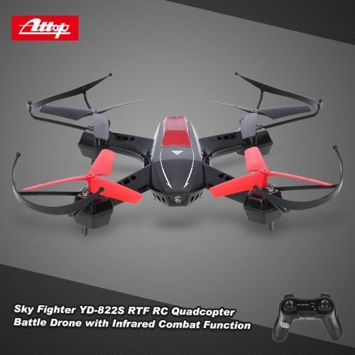 Original Attop Sky Fighter YD-822S 2.4G 4CH 6-Axis RTF RC Quadcopter Battle Drone with 3D Flip Infrared Combat Function