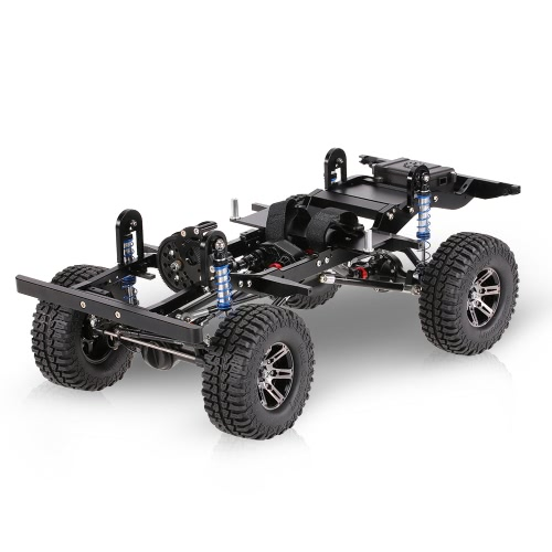 AX-D9001 Alle Metall CNC Rahmen für 1/10 D90 Felsen Crawler RC Auto KIT Version mit Transfer Case Differential Getriebe Box Receiver Hide Electronics Box