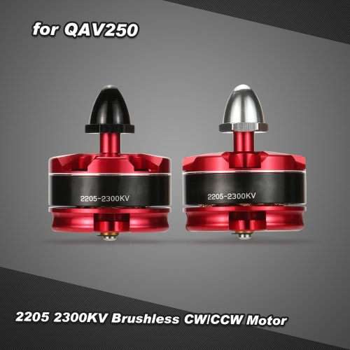 2Pcs 2205 2300KV Brushless CW/CCW Motor with Motor Seat for QAV250 280 FPV Racing Quadcopter