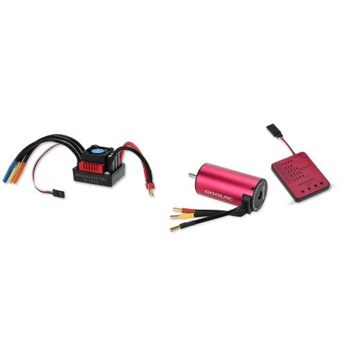 Original GoolRC S3670 2850KV Sensorless Brushless Motor 120A Brushless Regler und Programm-Karte Combo Set für 1/8 RC Auto-LKW