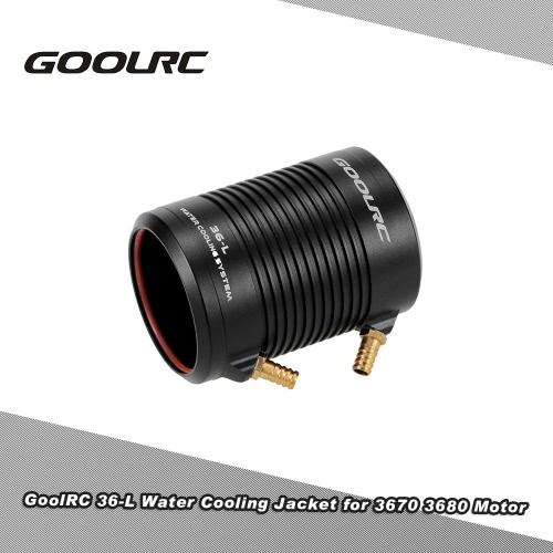 Original GoolRC Aluminium 36-L Wasserkühlgehäuse-Abdeckung für 3670 3680 RC Boot Brushless Motor