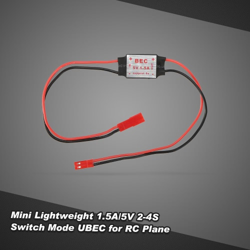 Mini Lightweight Step-down Module 1.5A/5V 2-4S Switch Mode UBEC for Helicopter Quadcopter Gimbal Receiver Servo Power Supply