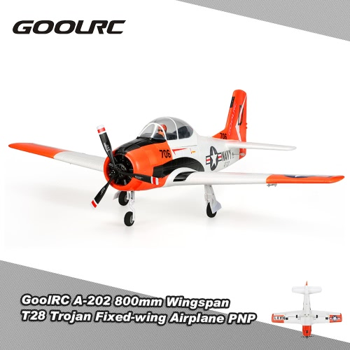 GoolRC A-202 800mm Wingspan T28 Trojan Warbird EPO Fixed-wing Airplane PNP Version RC Airplane