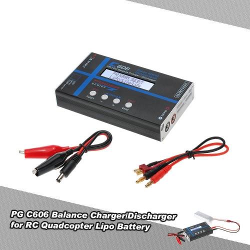 Original Netz Genius C606 Balance Charger / Disch 60W mit Lipo Batterie-Widerstand-Test-Funktion für LiPo Li-ion LiFE NiCD- NiMH Pb RC Batterie