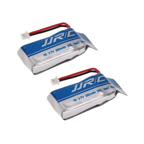 Batterie LiPo 2pcs JJRC 3.7V 280mAh 30C pour JJRC H20C H20W RC Quadcopter