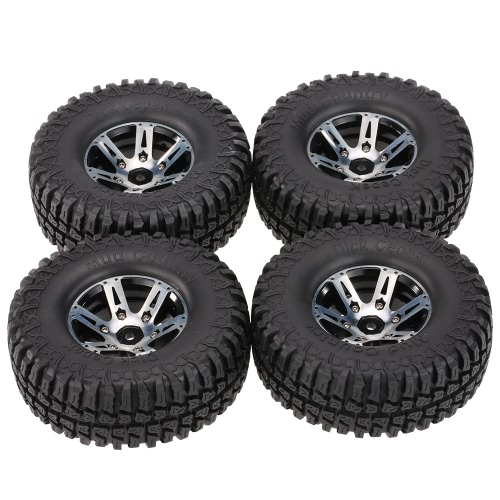 4Pcs AUSTAR AX-3020A 1.9 Inch 103mm 1/10 Scale Tires with Wheel Rim for 1/10 D90 SCX10 CC01 RC Rock Crawler