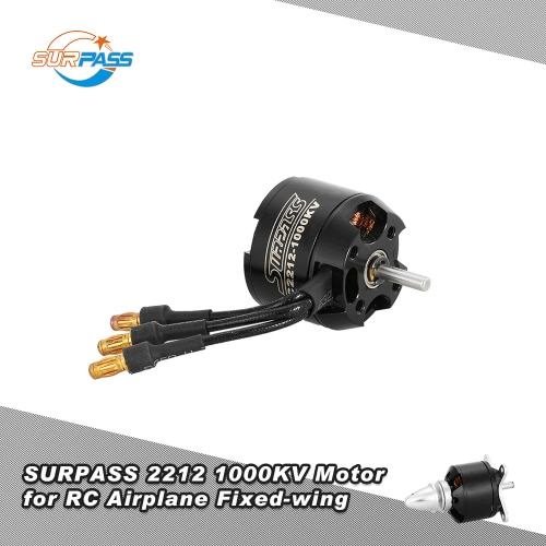 Original SURPASS High Performance 2212 1000KV 14 Poles Brushless Motor for RC Airplane Fixed-wing