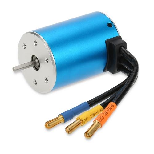 3650 3900KV Sensorless Brushless Motor with 60A Brushless ESC for 1/10 RC Car