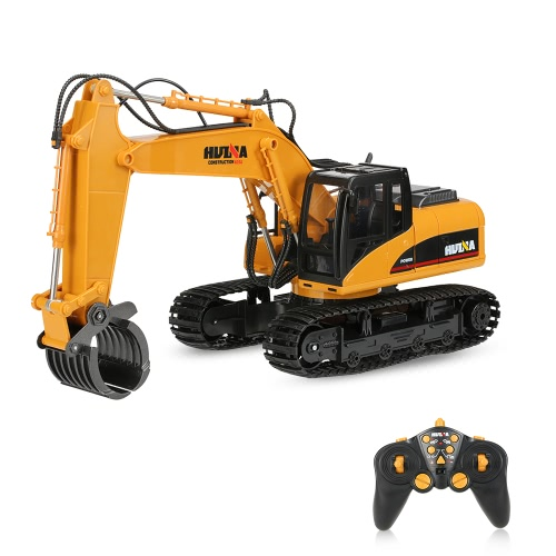 HUINA TOYS NO.1570 2.4G 16CH RC Excavator Timber Grab Crawler Truck Engineering Vehicle Toys