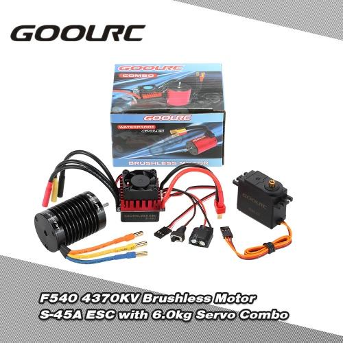 GoolRC F540 4370KV Brushless silnika S-45A ESC z 6.0kg Metal Gear Servo Upgrade Brushless Combo Set for 1/10 RC Car Truck