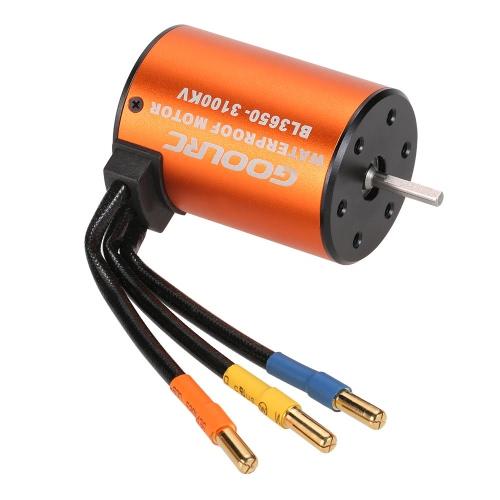 GoolRC 3650 3100KV Brushless Motor impermeabile per 1/10 RC auto HSP 94123 HuanQi 727 FS corsa 53625/53632