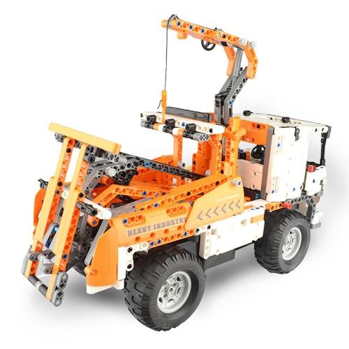 838PcsダブルE C51013W 2 1 RCクレーンビルディングブロックキット2.4GエンジニアリングモデルDIY建設おもちゃ
