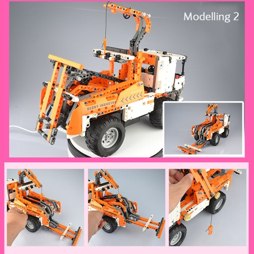 838Pcs Double E C51013W 2 in 1 RC Mobile Crane Building Blocks Kits 2.4G Engineering Model DIY Construction Toys от Tomtop.com INT