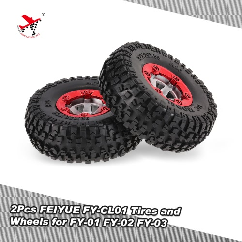 2Pcs FY-CL01 Tires and Wheels for FEIYUE 1/12 FY-01 FY-02 FY-03 RC Car Parts