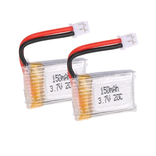 2Pcs GoolRC T36 3.7V 150mAh Batterie Lipo pour GoolRC T36 NH-010 H36 Drone Quadcopter