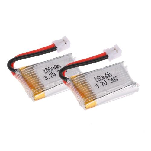 2Pcs GoolRC T36 3.7V 150mAh Lipo Battery Part for GoolRC T36 NH-010 H36 Drone Quadcopter