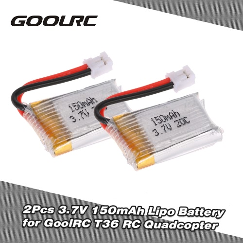 2Pcs GoolRC T36 3.7V 150mAh Lipo Battery Part for GoolRC T36 NH-010 H36 Drone Quadcopter