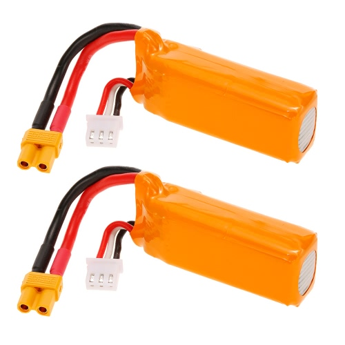 2個オリジナルGoolRC 7.4V 2S 450mAh LiPoバッテリーXT30プラグ、GoolRC G90 Pro Tiny Micro 80 90 100 FPV Racing Quadcopter