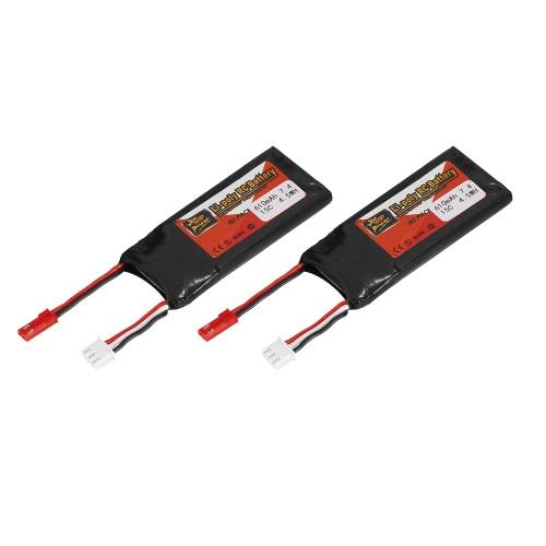 Spina JST della batteria Lipo di potere 7.4V 610mAh 15C di ZOP di 2pcs