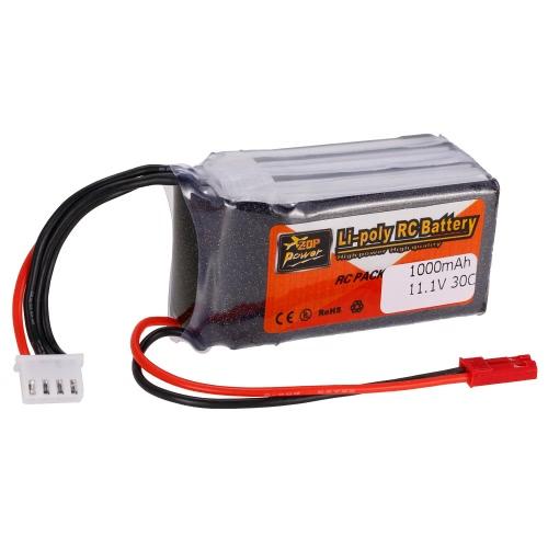 ZOP-Energie 3S 11.1V 1000mAh 30C LiPo Batterie JST Stecker
