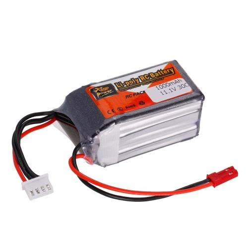 ZOP Power 3S 11.1V 1000mAh 30C LiPo Battery JST Plug