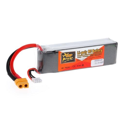 ZOP電源3S 11.1V 3000mAh 60C高速LiPoバッテリーXT60プラグ