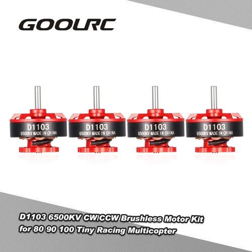 GoolRC D1103 6500KV Brushless Motor Kit for 80 90 100 Tiny Micro FPV Racing Quadcopter