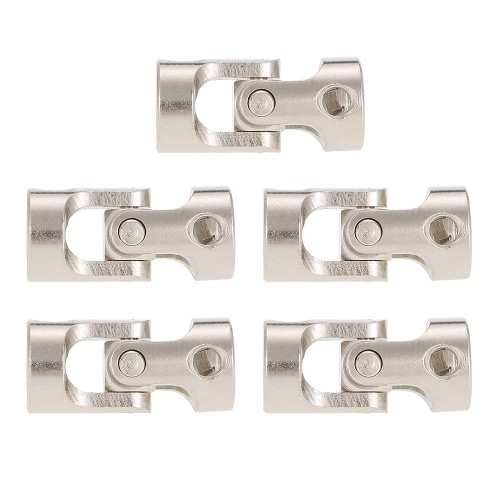 5pcs Stainless Steel 6 to 6mm Full Metal Universal Joint Cardan Couplings for RC Car and Boat D90 SCX10 RC4WD