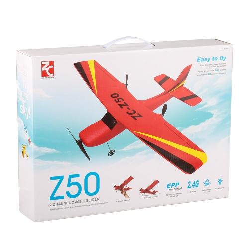 ZHI CHENG TOYS Z50 2.4G 2CH Aliante aliante 350mm Apertura alare EPP