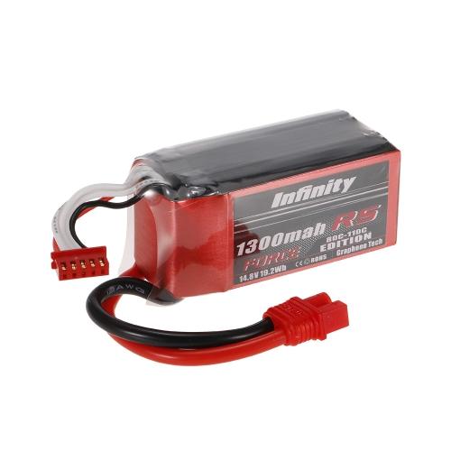 Infinity 4S 14.8V 1300mAh 80C-110C LiPo Batterie SY60 pour XT60 Plug 250 280 Drone RC Voiture Bateau