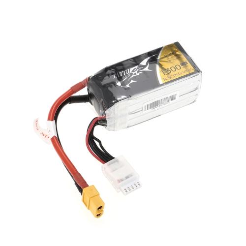 ACE TATTU 1300mAh 14,8 V 75C 4S1P 4S Lipo batteria con connettore XT60 per FPV Racing Drone